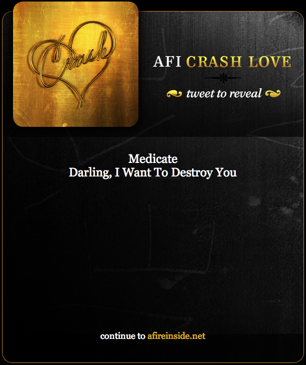 the AFI Crash Love Twitter